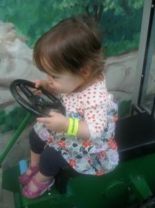Olivia on tractor!